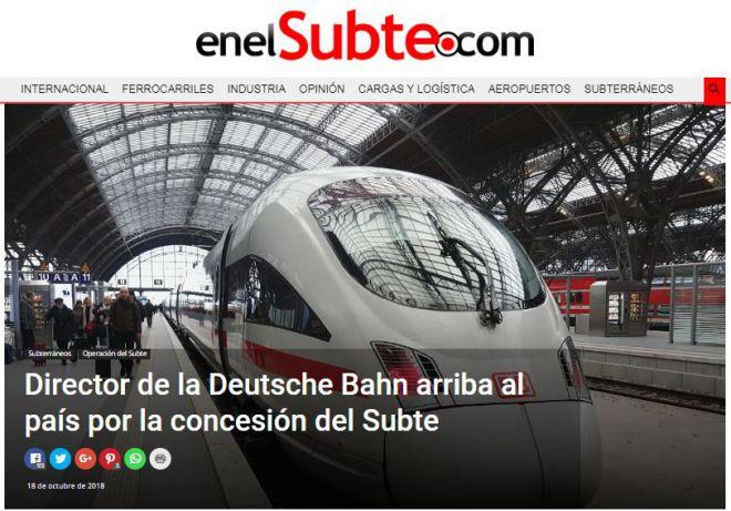 Director de la Deutsche Bahn arriba al país por la concesión del Subte_EnElSubte