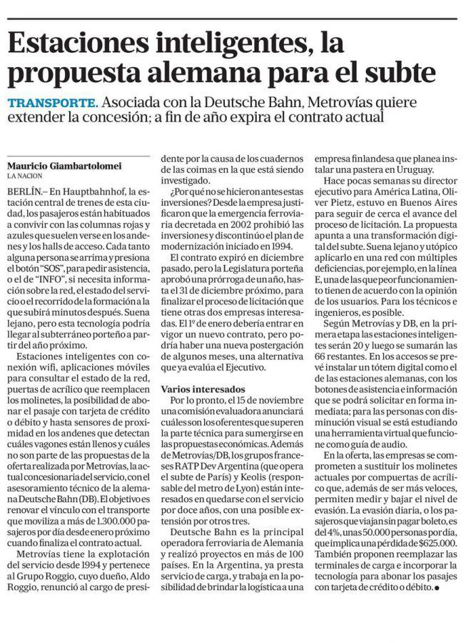Estaciones inteligentes, la propuesta alemana para el Subte_La Nación