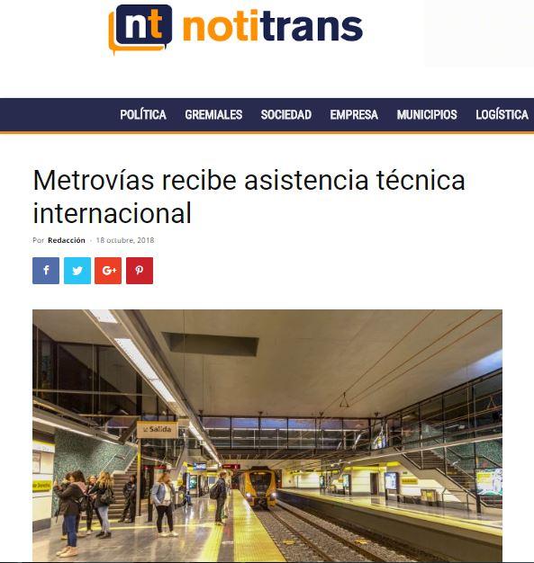 Metrovías recibe asistencia técnica internacional_Notitrans