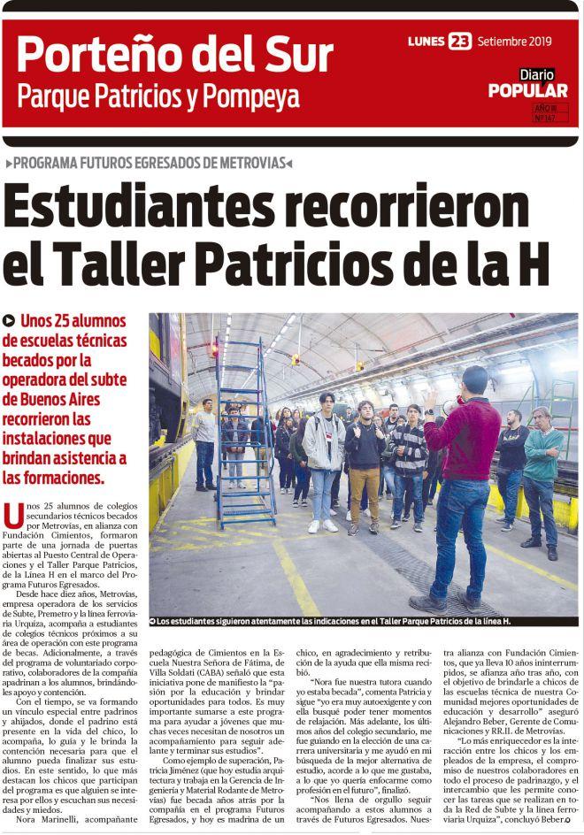 Diario-Popular_Estudiantes-recorrieron-el-Taller-Parque-Patricios-de-la-H
