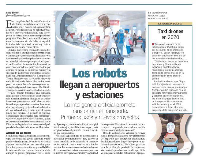 BAE_Los robots llegan a aeropuertos y estaciones
