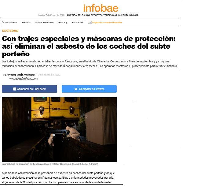 desasbestización - infobae