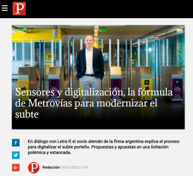 Sensores y digitalización, la fórmula de Metrovías para modernizar el subte