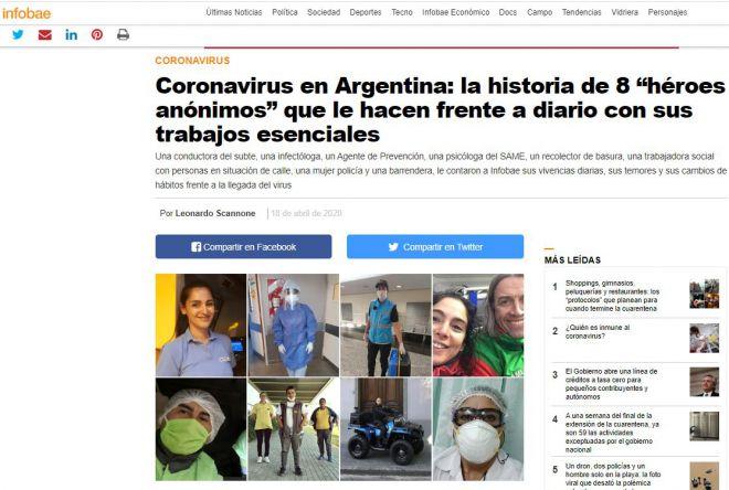 """Coronavirus en Argentina: la historia de 8 """"héroes anónimos"""" que le hacen frente a diario con sus trabajos esenciales"""