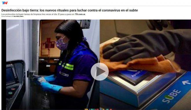 Desinfección bajo tierra: los nuevos rituales para luchar contra el coronavirus en el subte